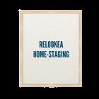 Un cadre avec marqué à l'intérieur Relookea home staging